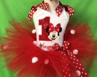 Minnie Mouse Birthday Tutu set