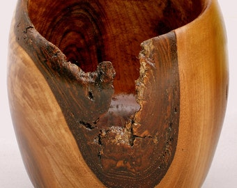 Vase, wood vase, walnut vase, wood