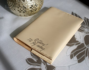 Personalized Leather Notebook cover, Refillable Leather Journal, Personalized Engraved Notebook, Personalized leather journal cover,