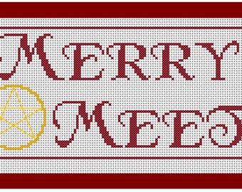 Merry Meet Cross Stitch Pattern