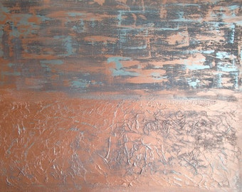 More Pennies...Abstract textured painting