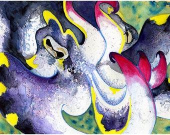 Flamboyant Cuttlefish Painting