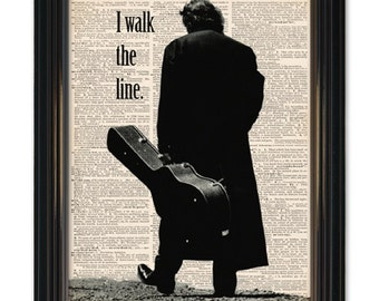 Johnny Cash Dictionary Art Print. Country Legend Dictionary page- Book Page print 8x10 in size. Buy any 3 prints get 1 FREE!