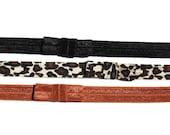 Elastic Bow Headbands - set of 3 - Black, Cheetah, Copper