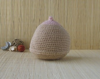 Light Brown Crochet Breast, Handmade Breast, Lactation Model, Breast-feeding Aid, Antenatal Teaching Aid,  Doula Gift, Midwife Gift