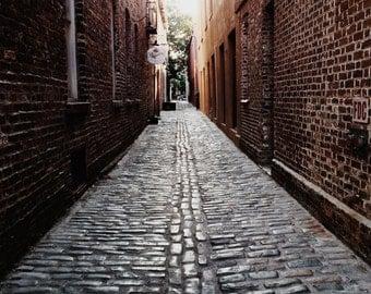 Charleston Cobblestone Streets, Charleston fine art prints