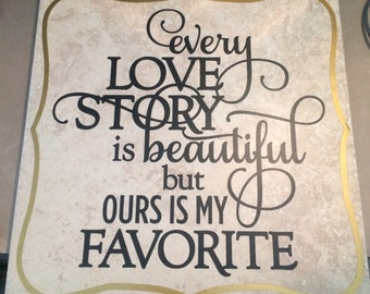 12x12 Love Story Tile