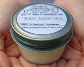 soy beeswax candle, No.18 The Guest House, Coconut Almond Milk soy candle infused with essential oils organic vintage style jar, eco