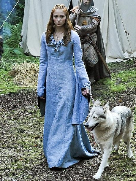 Game Of Thrones Sansa Stark Light Blue Medieval By Arsnaturans