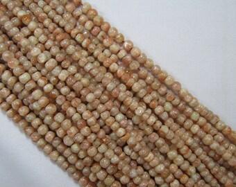 4.5-5mm Rondelle Sunstone Bead Strands