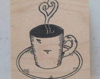 Coffee Cup  Rubber Stamp - 5M15