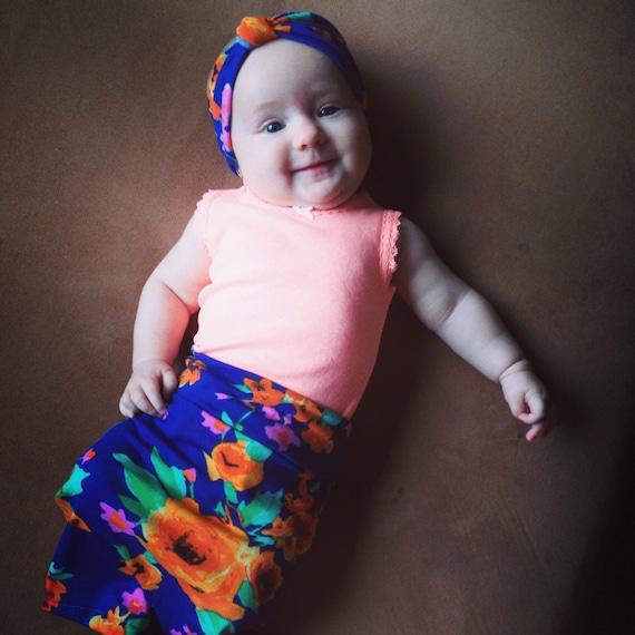 Baby maxi skirt newborn skirt baby skirt modern baby skirt blue