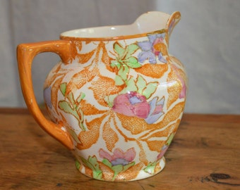 RARE Vintage BARKER BROTHERS made in England Creamer Jug. Marked 'Fantasy' Meir Works 1912-1930