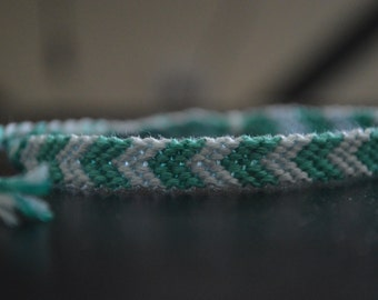 Aqua & Light Blue woven thread bracelet