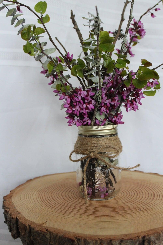 Custom wedding accessories rustic mason jar
