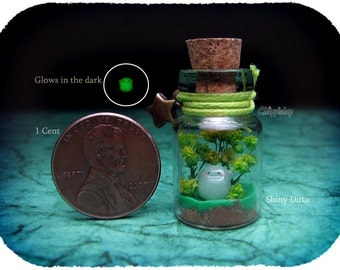nano shiny shinning Ditto glow in dark bottle miniature by Blackmago