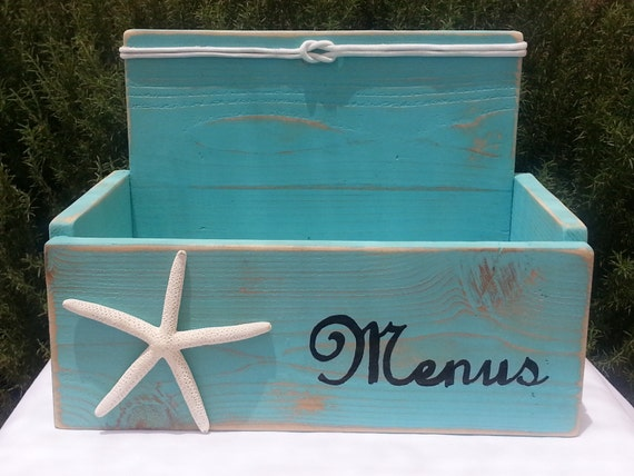 Menu box holder restaurant brewery coffee shop deli decor