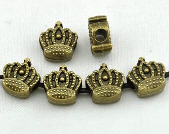 15pcs Antique Bronze Crown Spacer Bead Charm Pendants----12*12mm--G609