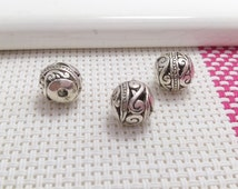 20 pcs  10mm Tibetan   Beads  Tibetan  Jewelry Antiqued Silver Tone