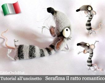 090IT Tutorial all'uncinetto Serafima il ratto romantico. Amigurumi Giocattolo - PDF Di Pertseva Etsy