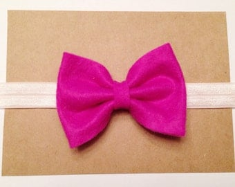 Pink and Purple Felt Bows