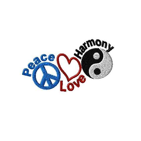 peace love harmony machine embroidery design. Black Bedroom Furniture Sets. Home Design Ideas