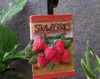 handmade outdoor strawberries garden marker