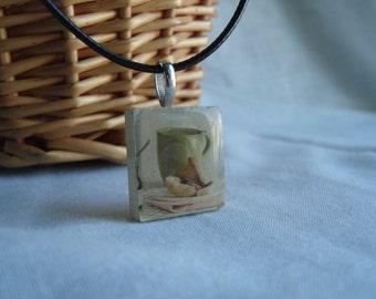 Coffee/Tea Mug Scrabble necklace