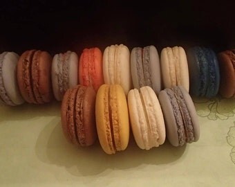 French Macarons Macaroons Almond Cookies 3 flavor of your choice 12 pc