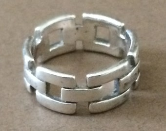 Size 5 Sterling Silver Link Ring