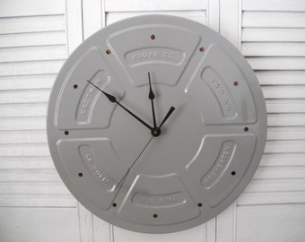 """Movie Film Can Wall Clock From The 1960', Comes With Film Kodax ,14"""""""