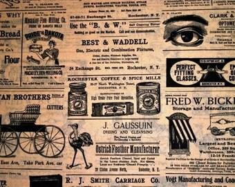 Newspaper / Newsprint Ads Tissue Paper # 223  .. Primitive...Men / Man ..Reproduction Of Vintage 10 large sheets