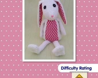 Rabbit Soft Toy Sewing Pattern.    Stuffed Animal bunny