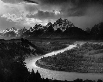 The Tetons and The Snake River photograph by Ansel Adams, in various sizes