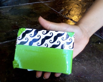 Items Similar To Blue And White Polka Dot Duct Tape Wallet