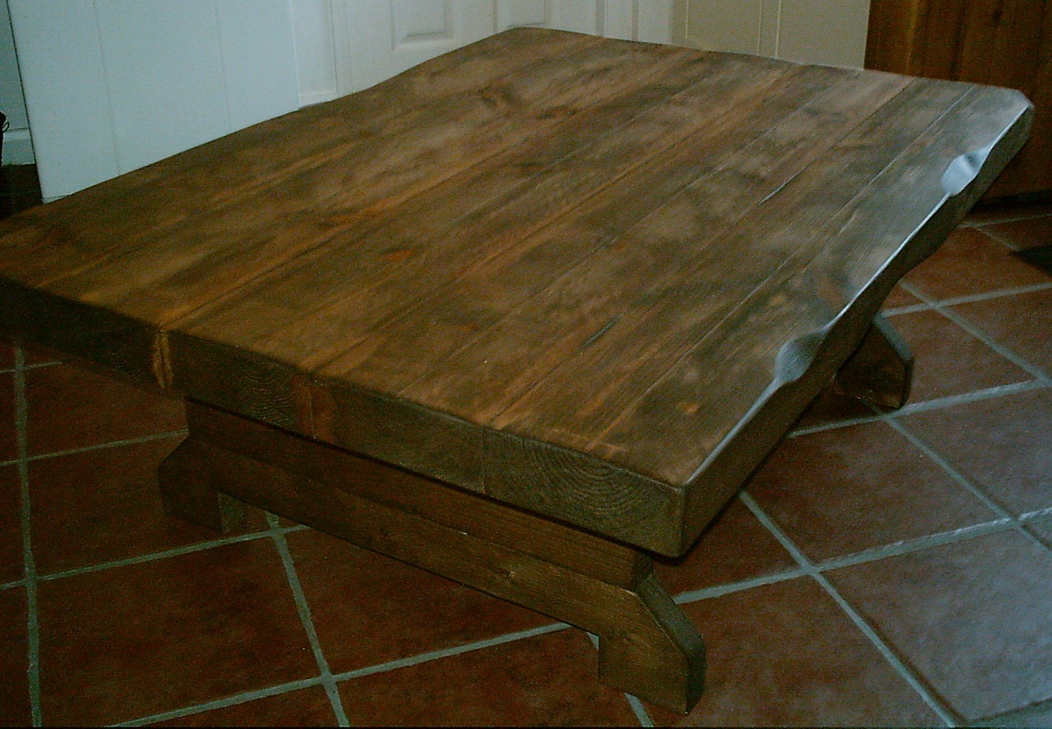 3 inch thick large chunky rustic coffee table various sizes for Large chunky coffee table