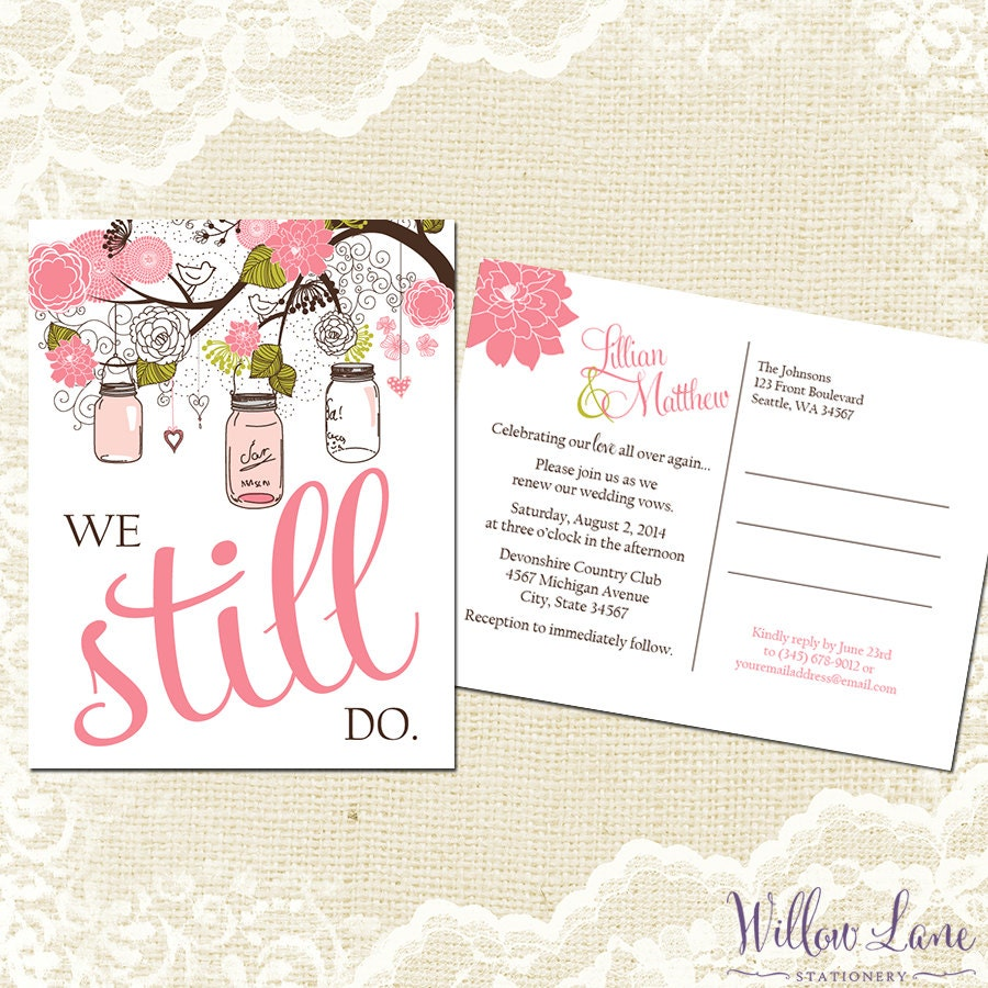 Wedding vow renewal – Renewal of Vows Invitation Cards