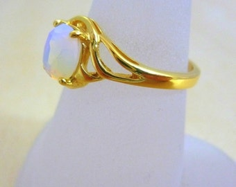 Opalit ring GOLD Filled ring  thin gold ring gift for her