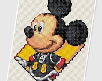 PDF Cross Stitch pattern - 0248.Micky - INSTANT DOWNLOAD