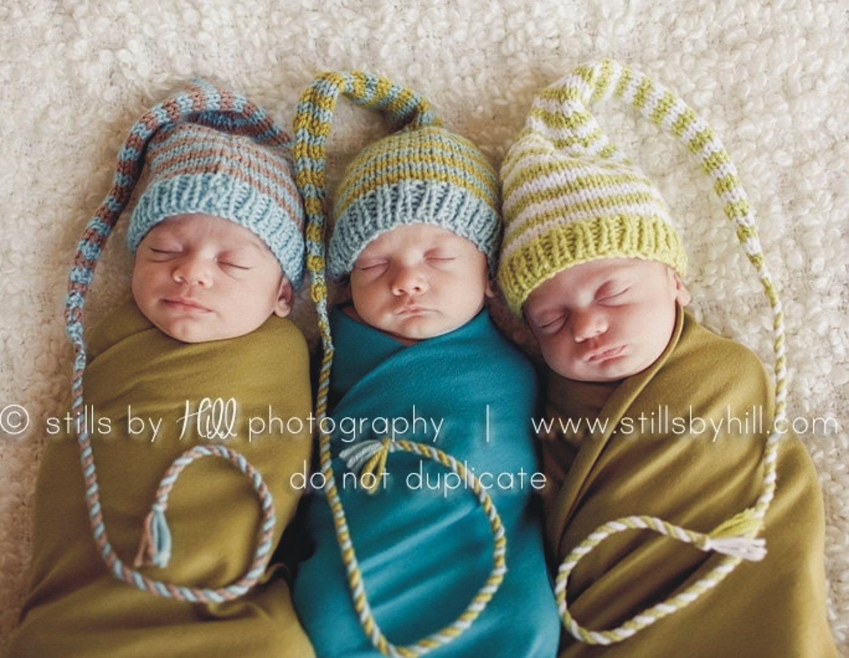 Baby hat knitting pattern long tail stocking cap pic tutorial zoom bankloansurffo Choice Image
