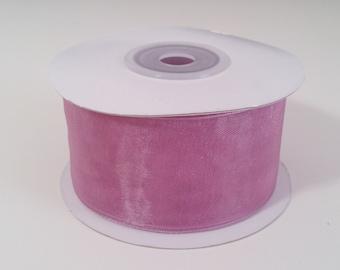 Sheer Organza Ribbon - Mauve - 25 Yards