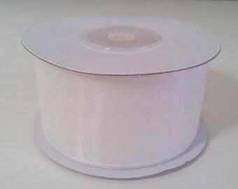 """1 1/2"""" Sheer Organza Ribbon - White - 25 Yards"""