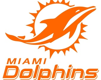 Miami Dolphins  Decal free shipping
