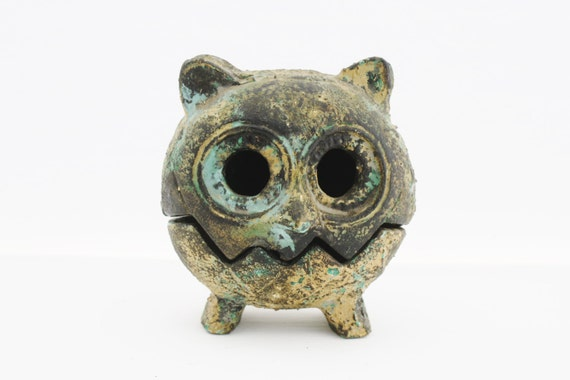 Vintage Owl Incense Burner Vintage Owl Candle Holder Made In