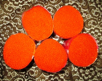 5 Bucilla Orange Pre cut Wool Yarn