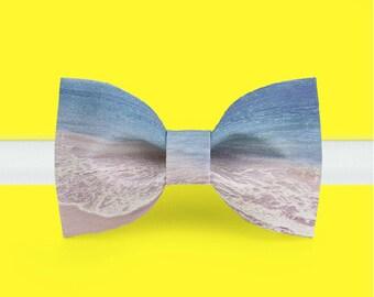 Beach Bow Tie - Sailor bowtie - Wedding bowtie - Adjustable Bowtie