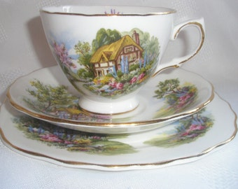 1950's Royal Vale Country Cottage Trio  (Five Available)