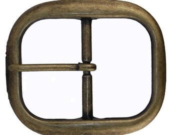 "Belt Buckle Center Bar Antique Brass 1-1/4"" (3.2 cm) 1565-24"