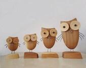 "Original sculptures    FREE SHIPPING   "" OWLS"""