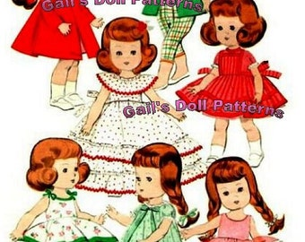 "Ginny, Muffie, Alexanderkin Wardrobe Pattern #8 for 8"" dolls"
